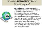 what is a network ky main street program