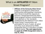 what is an affiliated ky main street program