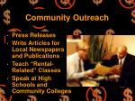 community outreach22