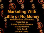 marketing with little or no money