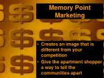 memory point marketing
