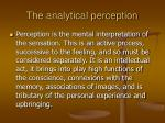 the analytical perception