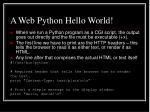 a web python hello world