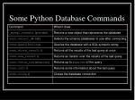 some python database commands