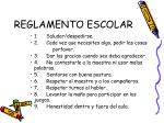 reglamento escolar