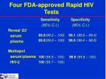 four fda approved rapid hiv tests1