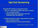 opt out screening