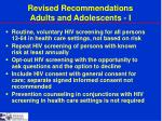 revised recommendations adults and adolescents i