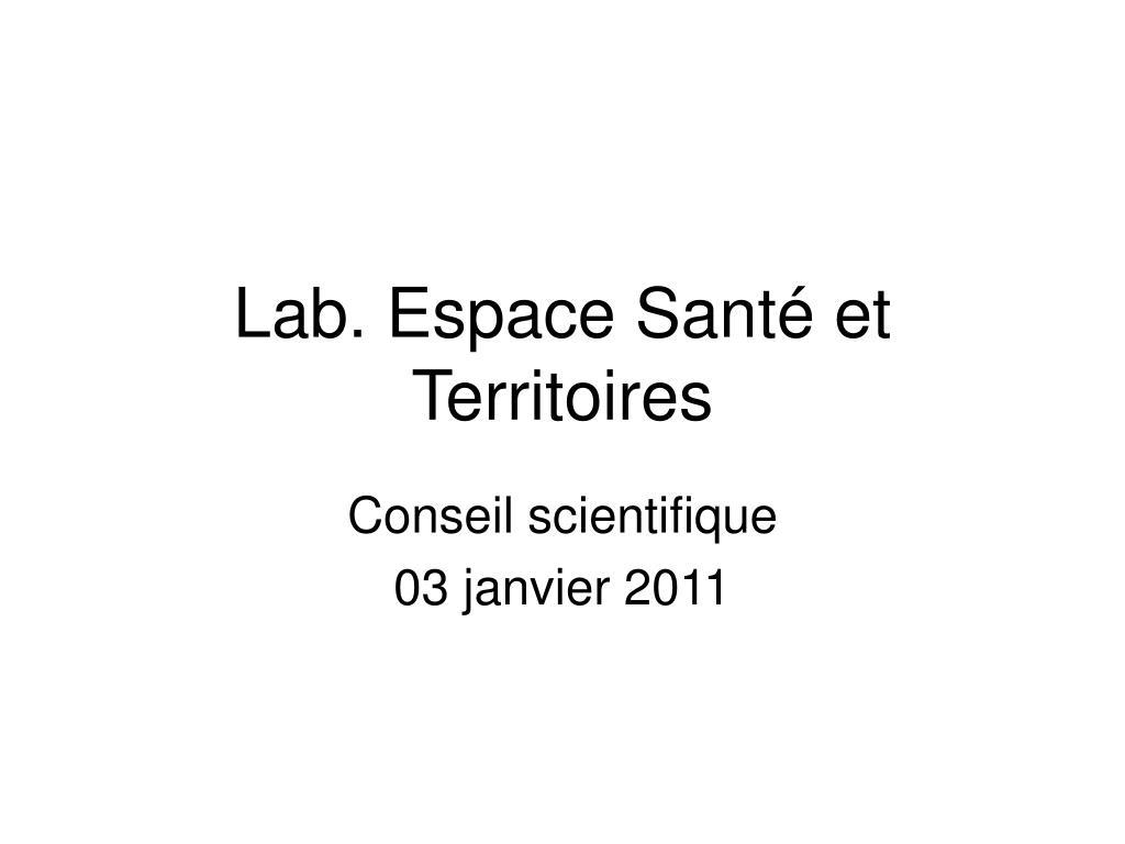 lab espace sant et territoires l.