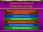 aligning the balanced scorecard to strategy29