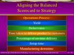 aligning the balanced scorecard to strategy30