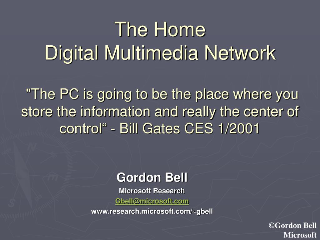 gordon bell microsoft research gbell@microsoft com www research microsoft com gbell l.
