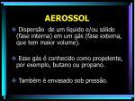aerossol