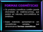 formas cosm ticas