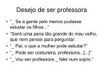 desejo de ser professora