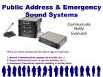 public address emergency sound systems