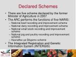 declared schemes