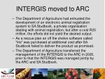 intergis moved to arc