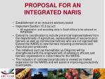 proposal for an integrated naris