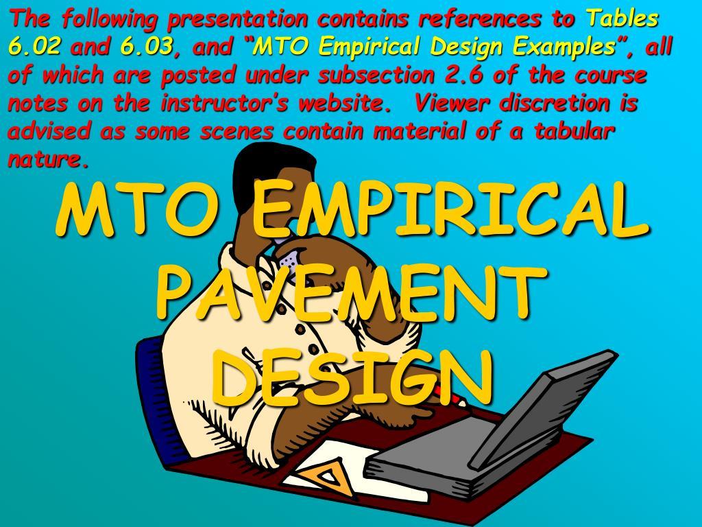 mto empirical pavement design l.