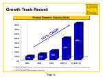 growth track record