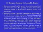 b business demand for loanable funds