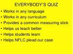 everybody s quiz