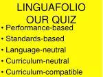 linguafolio our quiz