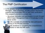 the pmp certification