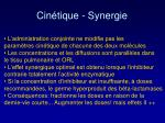 cin tique synergie