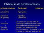 inhibiteurs de b talactamases