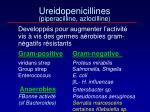ureidopenicillines piperacilline azlocilline