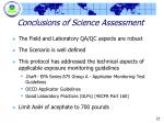 conclusions of science assessment