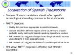 localization of spanish translations