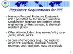 regulatory requirements for ppe
