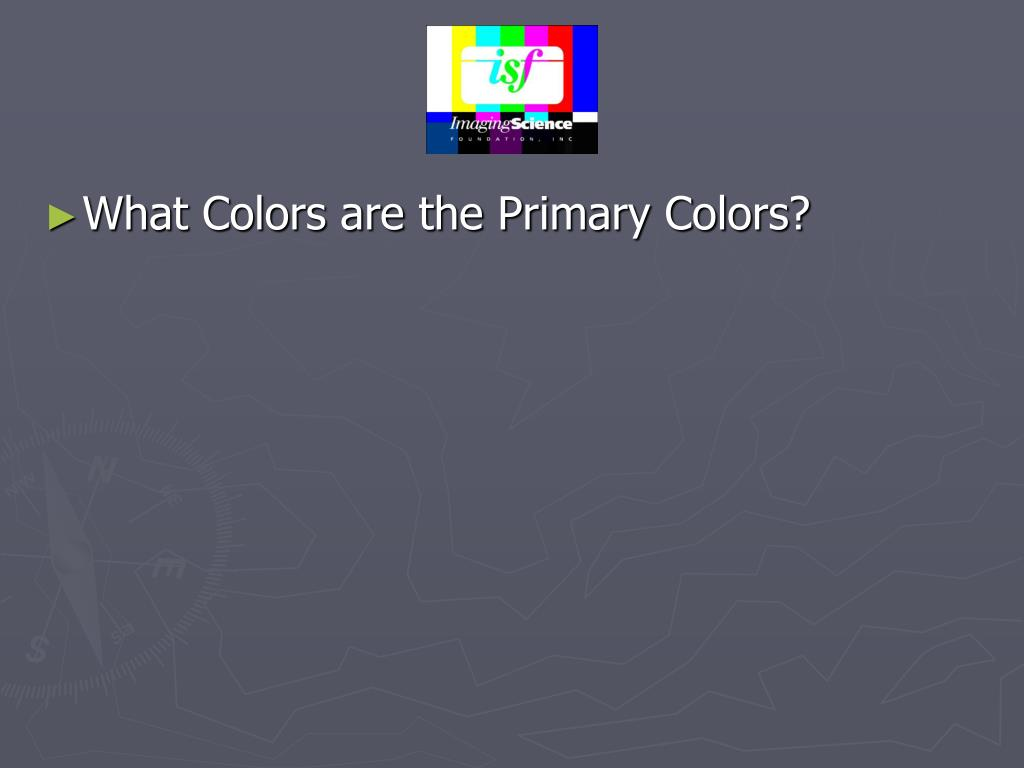 What Colors are the Primary Colors?