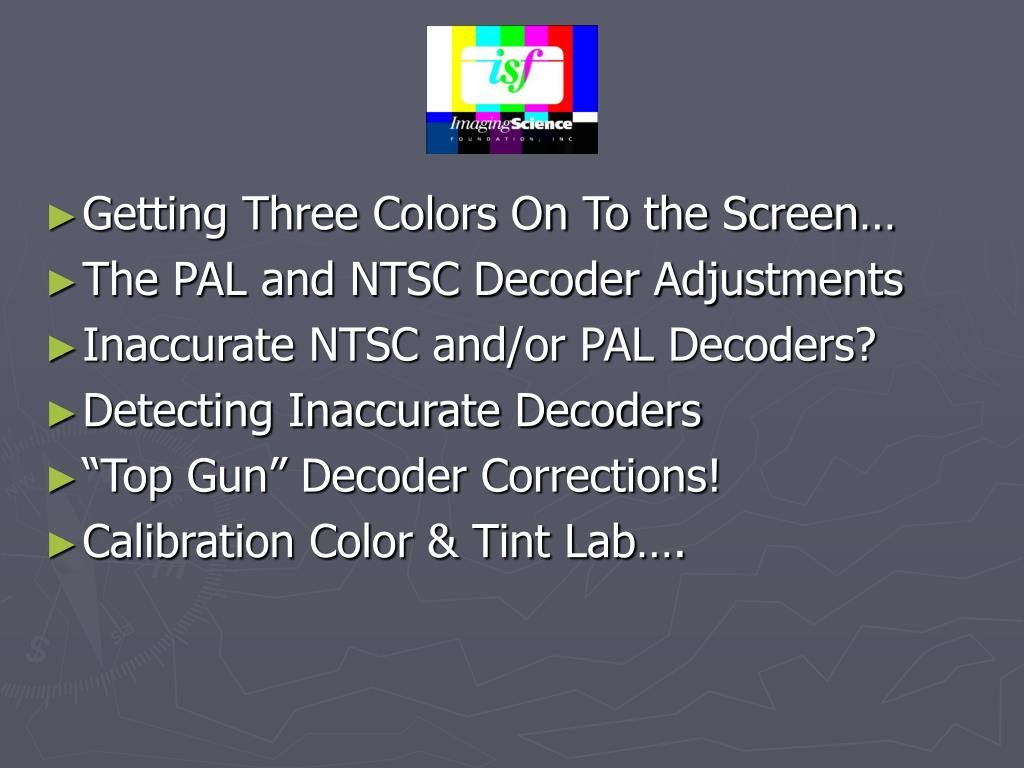 Getting Three Colors On To the Screen…