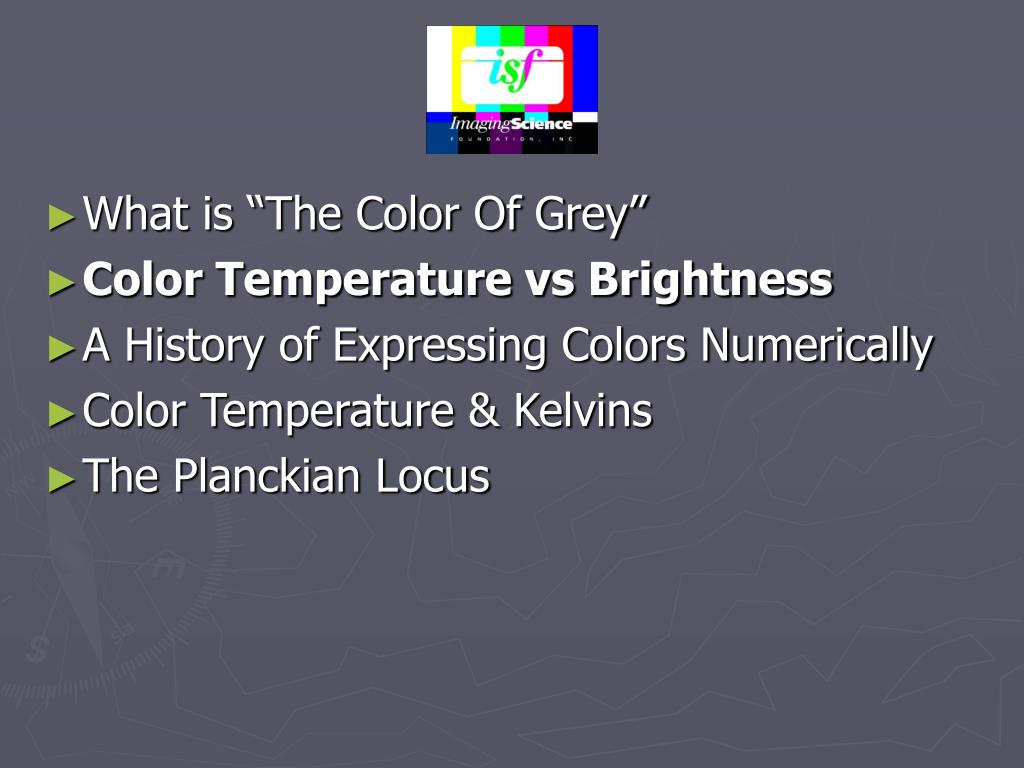 "What is ""The Color Of Grey"""