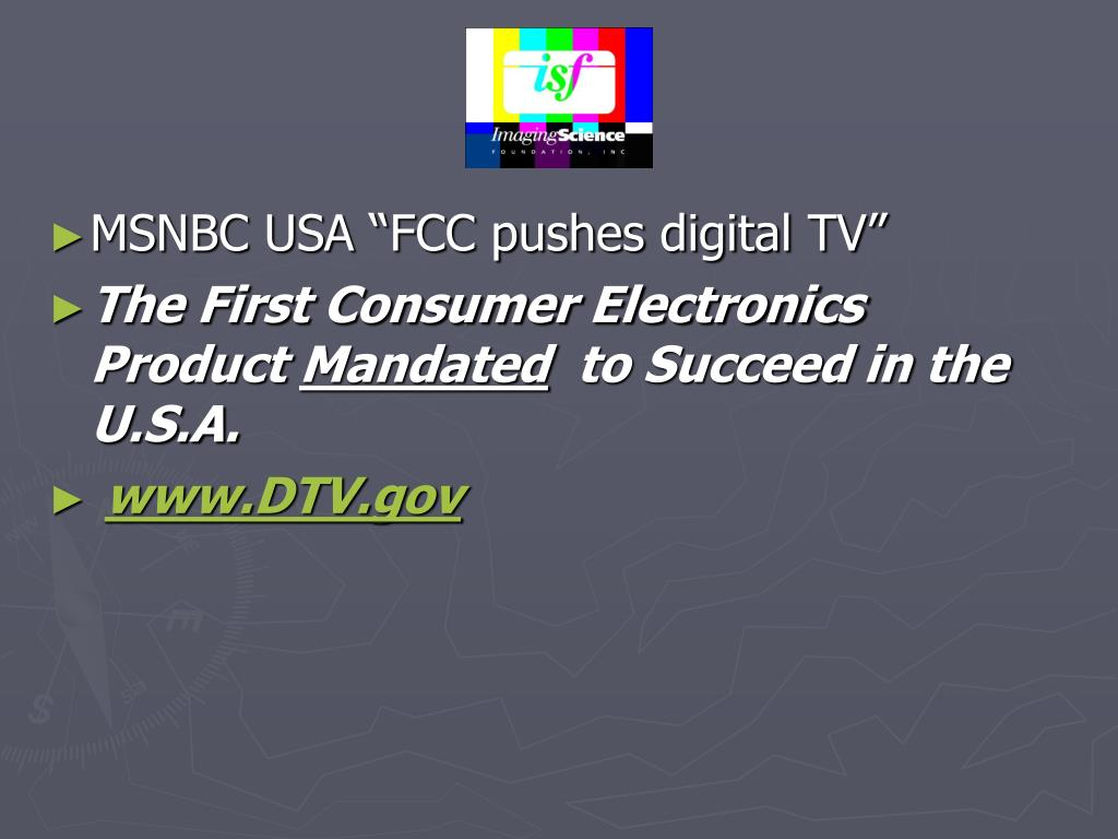 "MSNBC USA ""FCC pushes digital TV"""