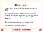 dod policy