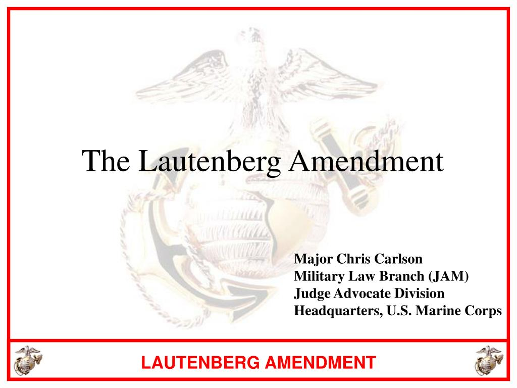 the lautenberg amendment l.