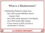 what is a misdemeanor