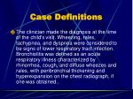 case definitions