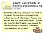 lesson connections for inferring and synthesizing