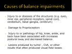 causes of balance impairments