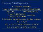 freezing point depression29