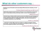 what do other customers say