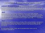 lehmann beleuchtungssysteme