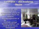 lehmann die moderne decke