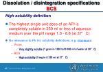 dissolution disintegration specifications bcs41